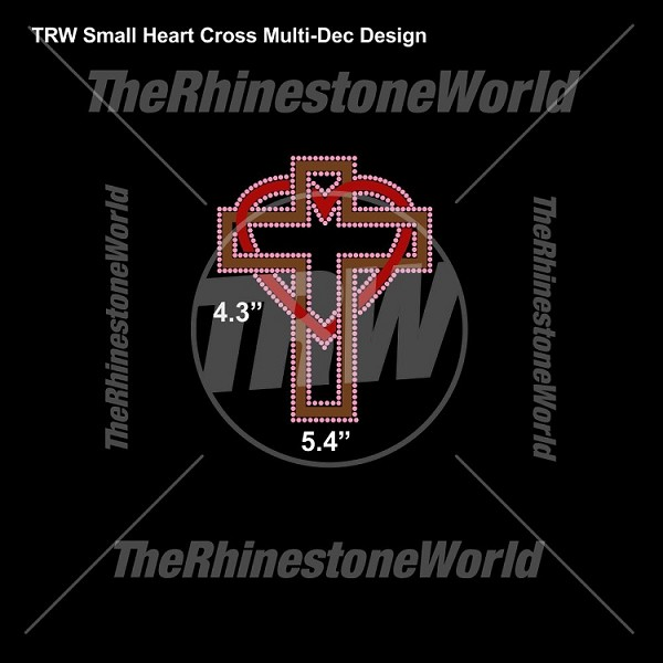 TRW Small Heart Cross Multi-Dec