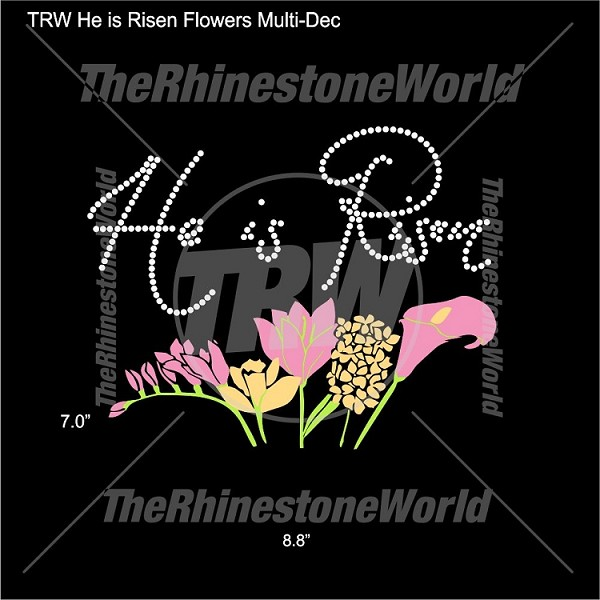 TRW He Is Risen Flowers Multi-Dec
