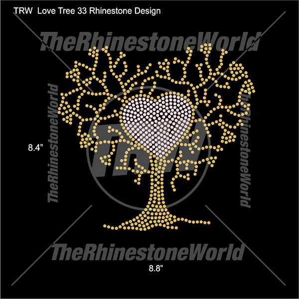 TRW Love Tree 33 Rhinestone Design
