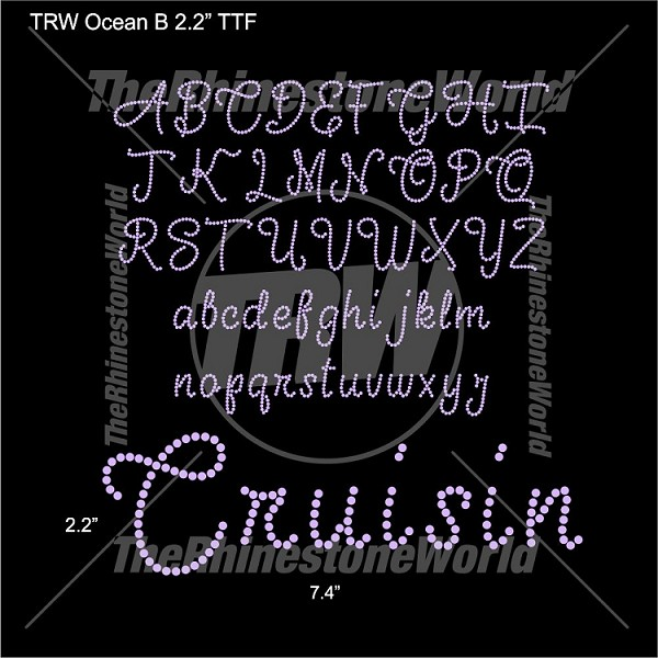 "TRW Ocean B 2.2"" Rhinestone TTF - Download"